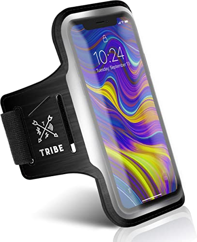 TRIBE Running Phone Holder Armband. iPhone & Galaxy Cell Phone Sports Arm Bands for Women, Men, Runners, Jogging, Wal...