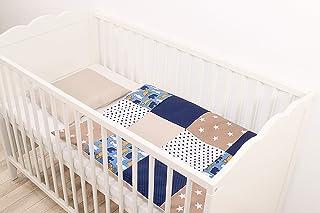 Herding GUESS HOW MUCH I LOVE YOU Bedding Set Cotton//Renforc/é Reversible Motif Duvet Cover 135 x 200 cm Pillow Case 80 x 80 cm