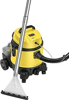 Clatronic BSS 1309 Lava Aspiradora con Limpiador de Tapicería para Coche, 1200 W, 20 litros, Amarillo
