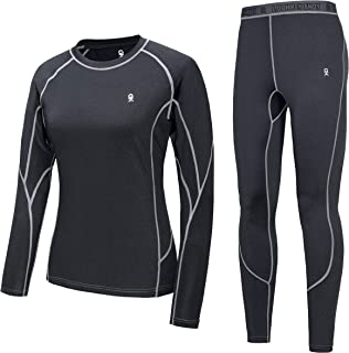 Women's Soft Thermal Underwear Long Johns Set Active Performance Top & Bottom Base Layer