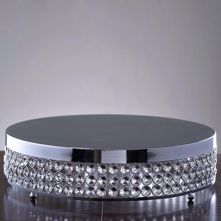 Efavormart Grand Wedding Beaded Crystal Metal Cake Centerpiece Stand Wedding Birthday Party Cake Display Stand - 15.5
