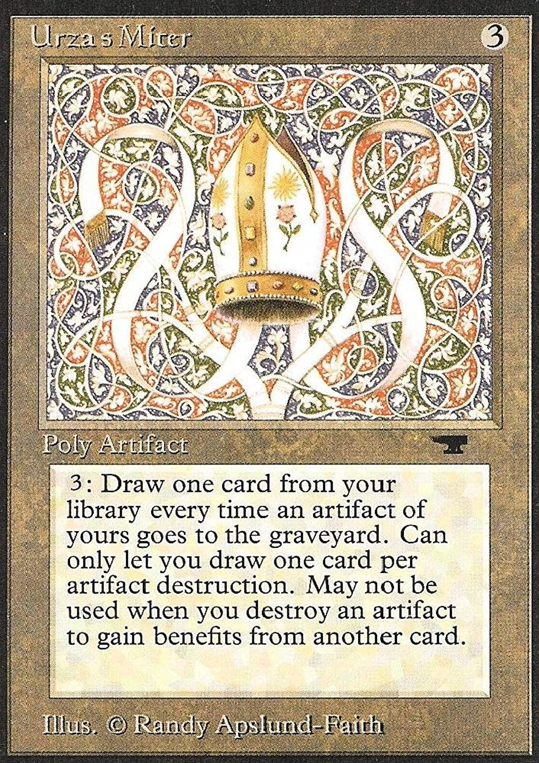 Magic  the Gathering  Urza's Miter  Antiquities by Magic  the Gathering