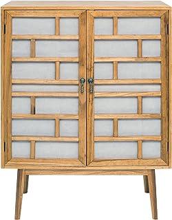Rebecca Mobili Aparador Muebles salón 2 Puertas Madera Blanco marrón Moderno - Medidas: 120 x 90 x 45 cm (AxANxF) - A...