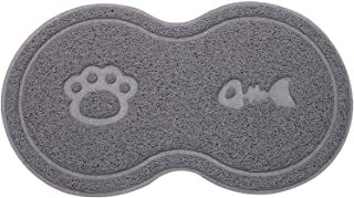 Starthi Silicone Pet Feeding Mat Cat Litter Tray Mat, Pet Food Mat, Durable, Easy to Clean, Soft, Fits Under Litter Box, P...