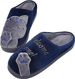 Mishansha Donna Pantofole Uomo Invernali Pantofole da Casa Caldo Ciabatte