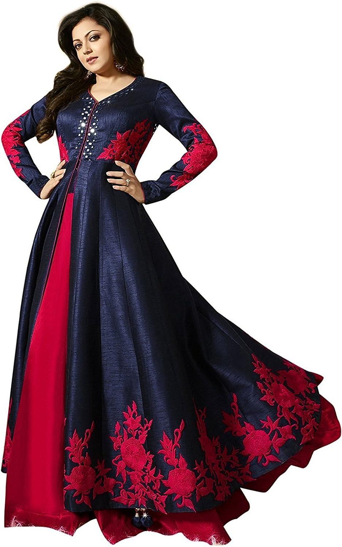 Women's Heavy Bangalori online shopping Blue Max 57% OFF Gown Silk