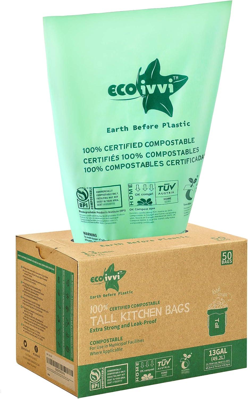 Compostable Biodegradable Ultra-Cheap Deals Trash 70% OFF Outlet Bags - ecoivvi Gallon Tall 13 Ki
