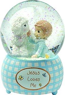 Image of Jesus Loves Me Snow Globe for Boys