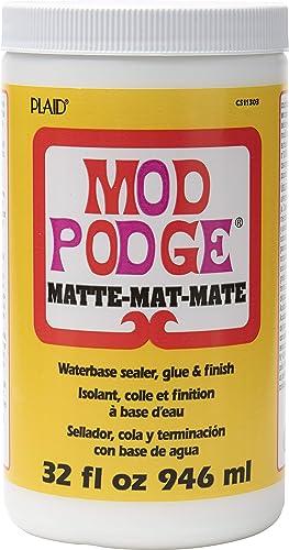 Mod Podge CS11303 Waterbase Sealer, Glue & Decoupage Finish, 32 oz, Matte, 32 Fl Oz