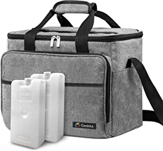 Conthfut Soft Cooler Bag, 40-Can Large and 2 Ice Packs Insulated Leakproof Collapsible Soft Sided Coolers Cooler Bags Travel Bag for Outdoor Travelling Long Shifts Work Hiking Beach Picnic Camping