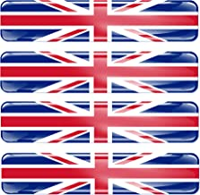 4x Autocollant sticker voiture moto stripes drapeau anglais uk royaume uni