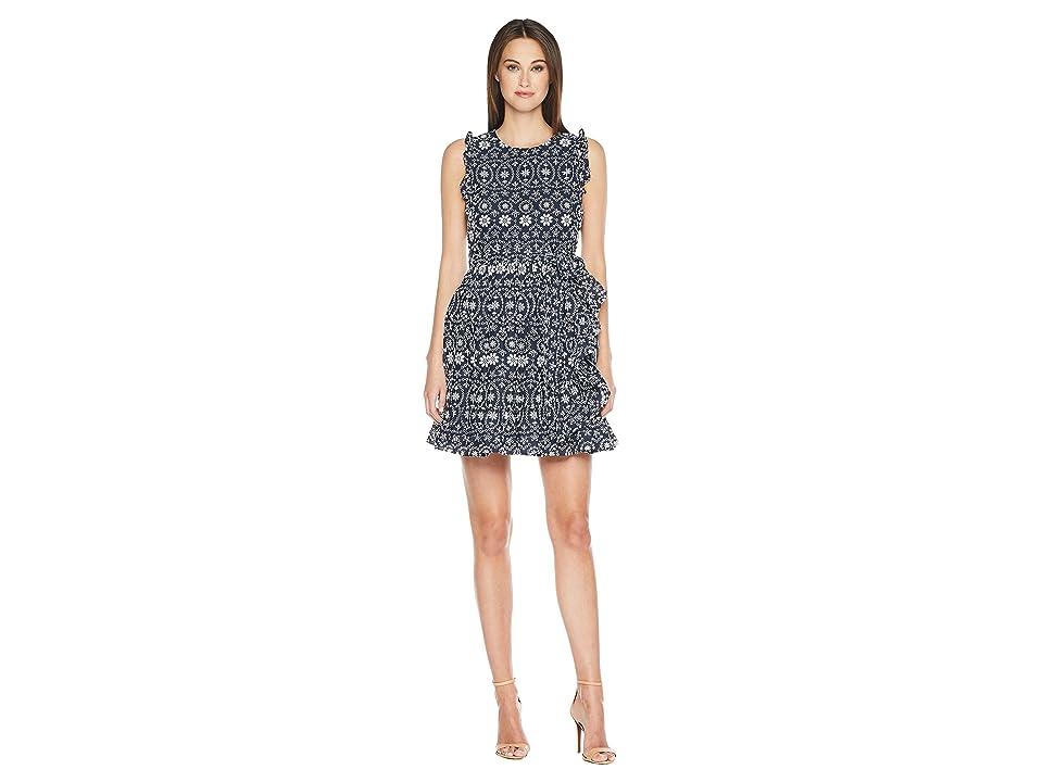 Kate Spade New York Eyelet Wrap Dress (Rich Navy/Fresh White) Women