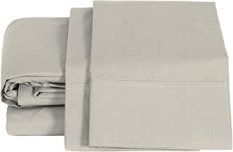 100% قطن بركال حجم كينج، فضي، 2 قطعة من أغطية الوسائد، كتان سرير قوي ومنعش