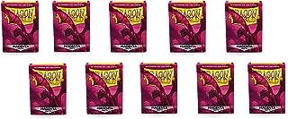10 Packs Dragon Shield Matte Magenta Standard Size 100 ct Card Sleeves Display Case