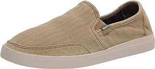 Sanuk Men's Vagabond Slip-On Sneaker Wash, Khaki, 9