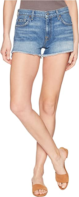 Cut Off Shorts with Step Hem in Desert Oasis