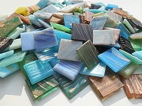 Happy-Mosaic Tesselles de Verre 10x10mm Multicolour mosaique pour bricoler 700g