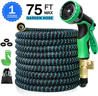 Colrasn Expandable Garden Hoses 75ft Water Hoses Expandable 75ft Heavy Duty Water Hoses with Sprinkler, Flex Water Hoses