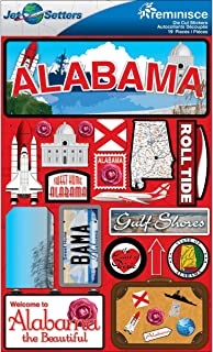 Reminisce Jet Setters Dimensional Stickers-Alabama