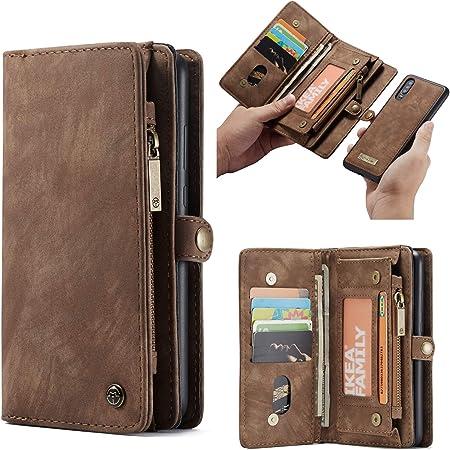 CaseMe Custodia Huawei P20 Lite Custodia in Vera Pelle Flip Cover in Pelle Portafoglio con Scomparto,