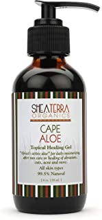 Shea Terra Organics African Aloe Topical Gel | Anti-Acne, Burns, Bites & Rashes Body Treatment – 4 oz