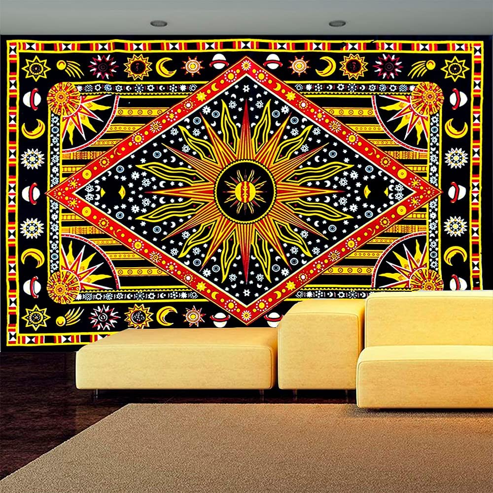 FabQual Tapestry Indie Tapestry Hippie Spiritual Tapestry Colorf