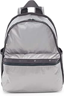 LeSportsac Gray Shimmer Basic Backpack/Rucksack, Style 7812/Color F588, Silver Iridescent Metallic Matte Specialty Materia...