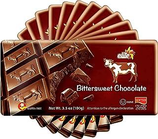 Elite, Dairy Free Bittersweet Dark Chocolate Bar 3.5oz (12 Pack) Vegan Friendly, Gluten Free, Kosher