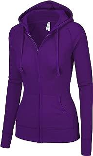Women's Thermal Long Hoodie Zip Up Jacket Sweater Tops