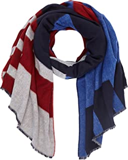 Tommy Hilfiger Damen BLOCK PARTY SCARF Schal, Blau (Corporate 901), One Size
