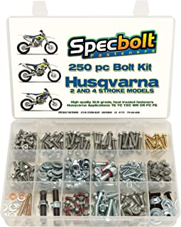 250pc Specbolt Fasteners Brand Bolt Kit. This Includes 2 Strokes: 50 65 85 125 250 300 550 4 Strokes 250 350 400 450 500 530 570 610 & KTM