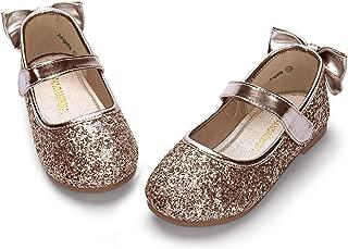 Girl's Ballet Dress Flats Mary Jane Wedding Party School Uniform Flower Girl Shoes for Toddler/Little Kid
