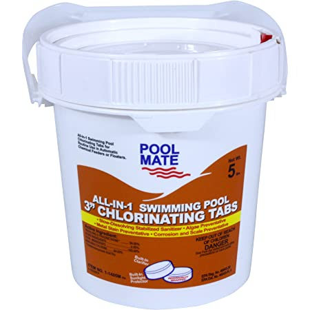 Pool Mate 1-1405M All-in-1 Swimming Pool Chlorine, 5-Pounds