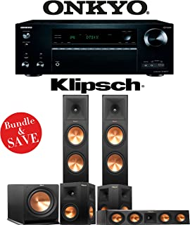 Klipsch RP-280F 5.1-Ch Reference Premiere Home Theater System with Onkyo TX-NR777 7.2-Ch 4K Network AV Receiver