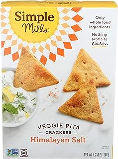 Simple Mills, Cracker Pita Sea Salt Himalayan, 4.25 Ounce