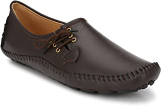 Andrew Scott Men's Brown Leather Loafers- 8 UK/India (42 EU) (1000Brown_8)