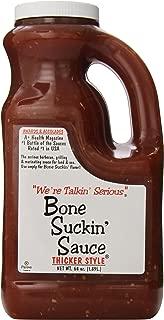 Bone Suckin Gourmet Foods Bbq Sauce, Thicker Original, 64 Oz