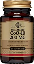 Solgar Megasorb CoQ-10 Supplement, 200 mg, 30 Count