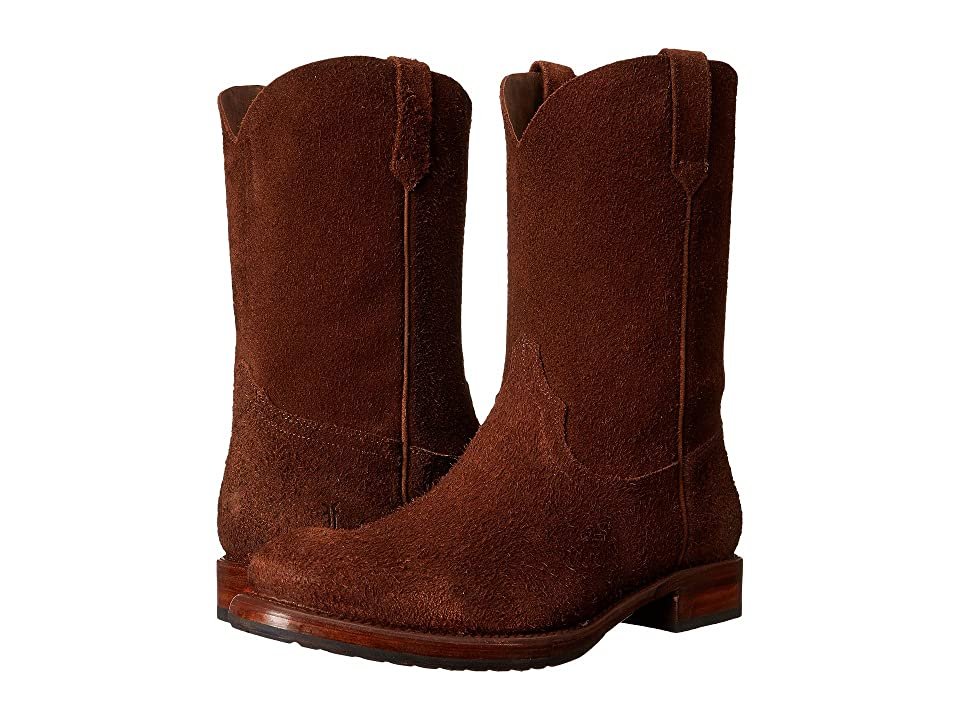 Frye Duke Roper (Brown Oiled Suede) Cowboy Boots