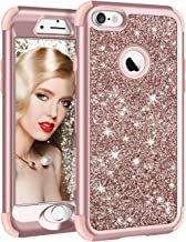 Vofolen for iPhone 6S Plus Case iPhone 6 Plus Case Glitter Bling Shiny Heavy Duty Protection Full-Body Protective Hard Shell Hybrid Rubber Bumper Armor Front Cover for iPhone 6 Plus 6S Plus Rose Gold