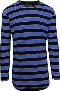 d253dfdeac5eae Amazon.com  black stripe long sleeve - Shirts   Clothing  Clothing ...