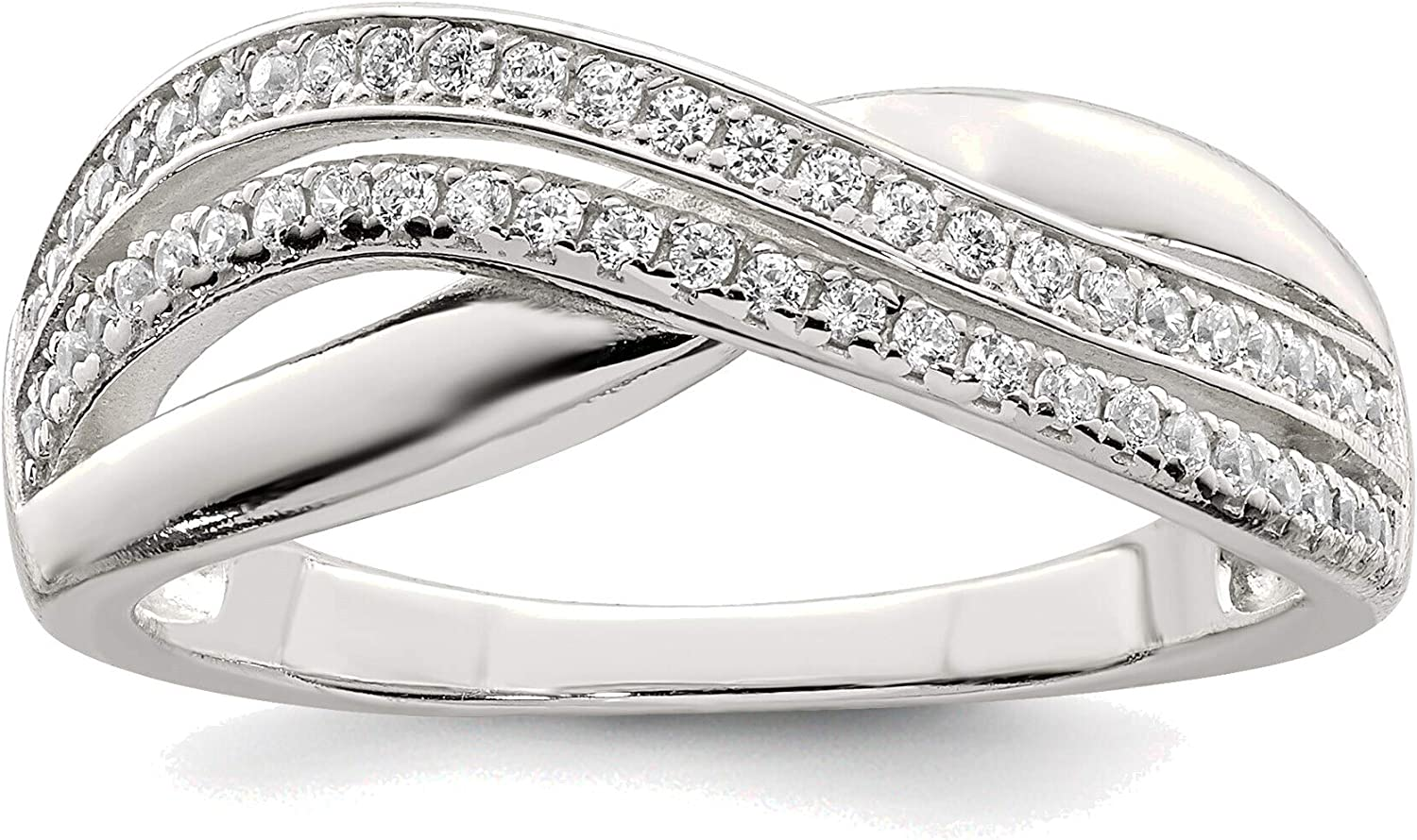 Bonyak Jewelry Solid Sterling Outlet SALE Silver and in 6 Size Regular discount Ring CZ