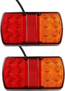 Per Caravan//RV//Rimorchio 10 LED Con Magnete Fanale Posteriore Cavo 7,5m E Spina 7 Poli 12v Impermeabile Led Coda Freno Spia Arresto Luce Targa ETUKER/LED Kit Fanale Posteriore Rimorchio Magnetico