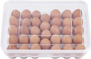 MengH-SHOP Boîte à œufs en Plastique Cuisine Grand Boîte Rangement d'oeufs Grille Porte Oeufs en Réfrigérateur avec Couver...