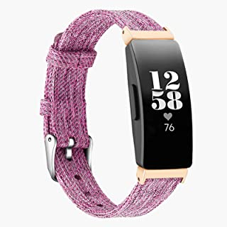 T-BLUER Compatible Fitbit Inspire/Inspire HR Starp,Canvas Fabric Watch Band Replacement Bracelet Wristband for Fitbit Insp...