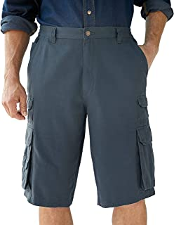 "Boulder Creek Men's Big & Tall 12"" Side-Elastic Stacked Cargo Pocket Shorts"