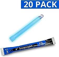 Cyalume SnapLight Blue Light Sticks – 6 Inch Industrial Grade, High Intensity Glow Sticks with 8 Hour Duration (Pack of 20)