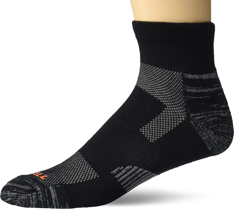 Merrell mens Light Hiker Ankle Quarter Socks