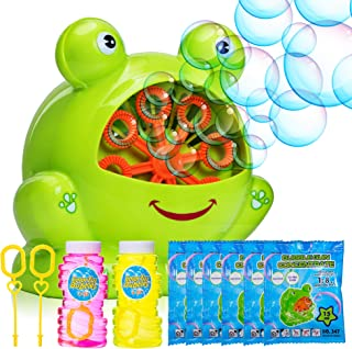Bubble Machine for Kids - Portable Durable Automatic Bubble Blower with Over 500 Bubbles Per Minute - Upgraded 2019 - 2X B...
