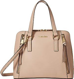 Calvin Klein Womens Saffiano Leather Satchel
